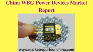 WBG Power Devices Market Report